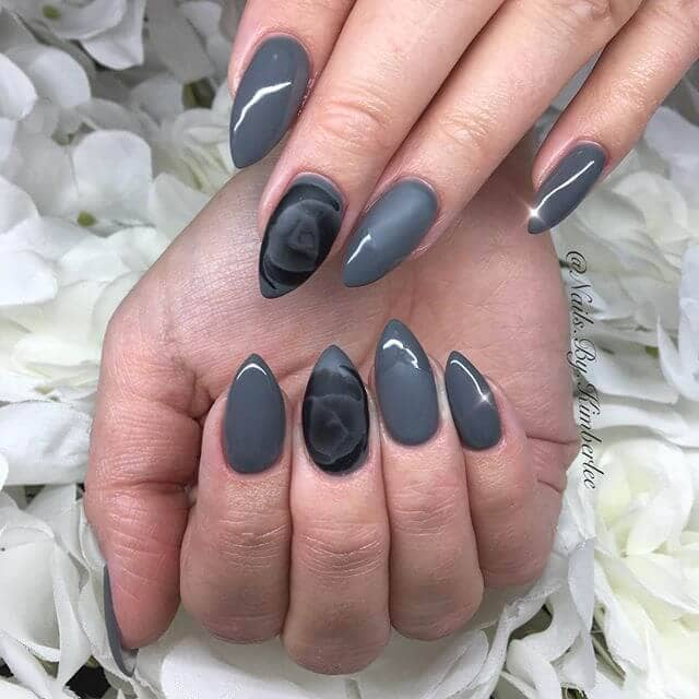 Beautiful Gray Rose and Matte Accent