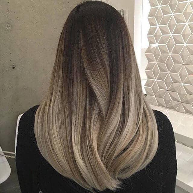 Dark Ashy Blonde More Highlights in Dark Brown Hair