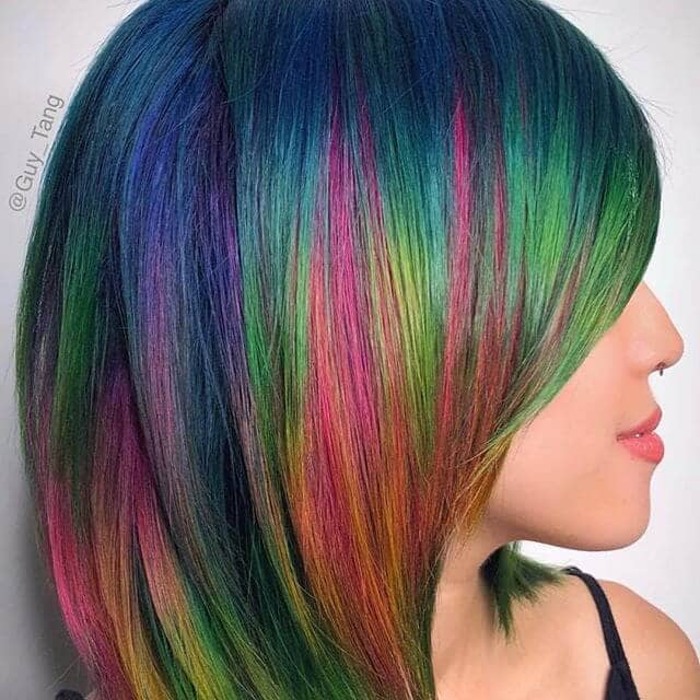 Rich Layered Jewel Streaks for Short Hair