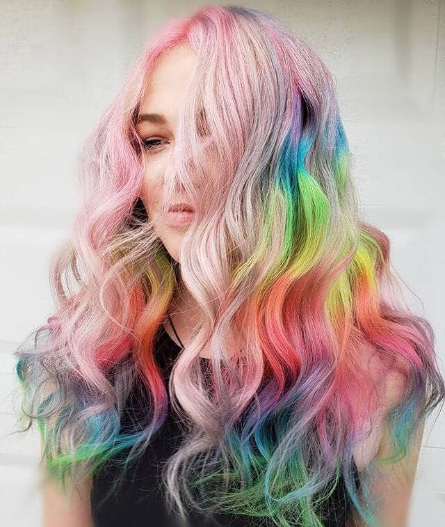 Fairytale Waves in Rainbow Pastels and Brights