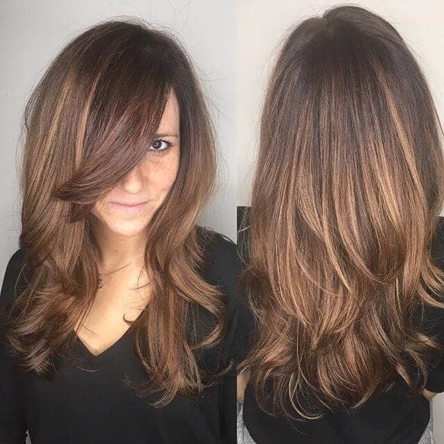 Pretty Tinted Hair With Side Bangs