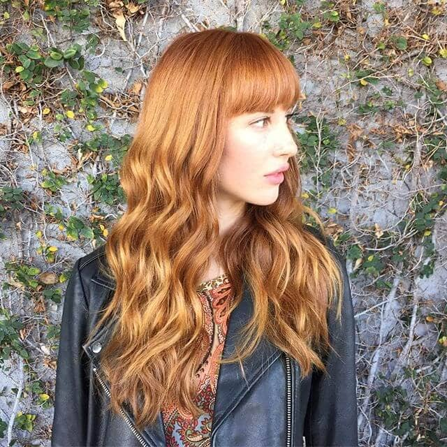 Summer Fun with Strawberry Blonde Bangs