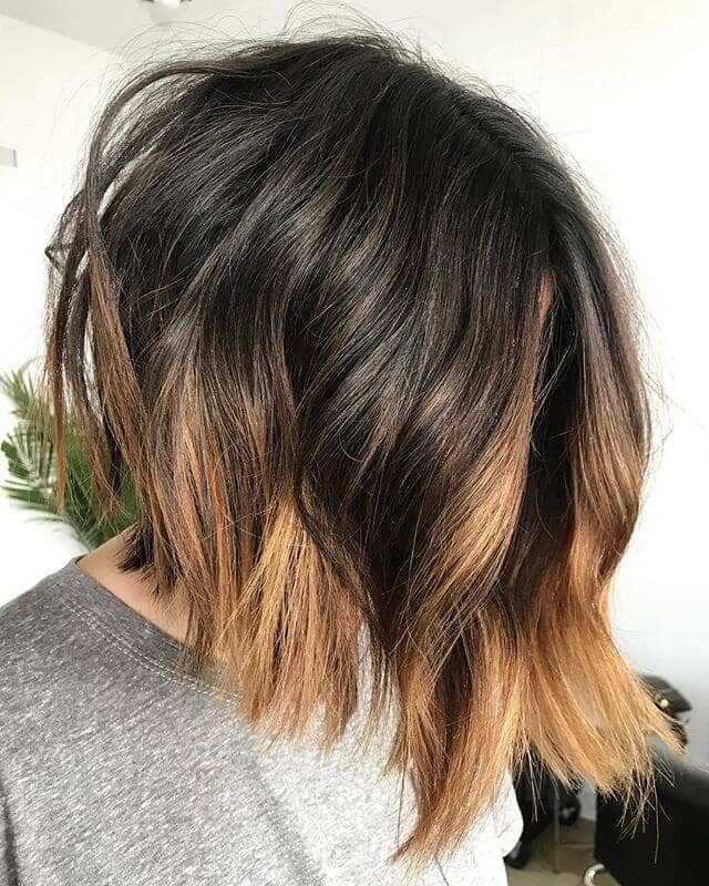 Short Bob Hairstyle with Fiery Blonde Highlights