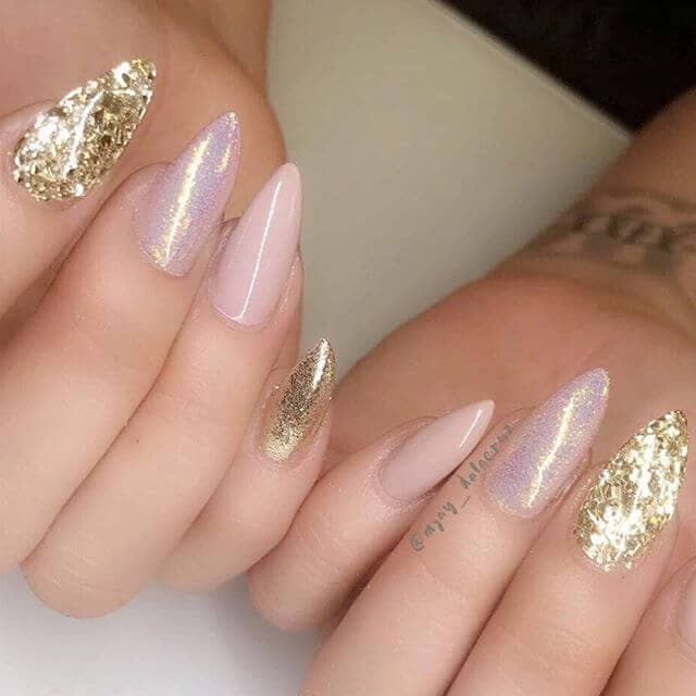Tender Colors with Glitter and Rose Nails