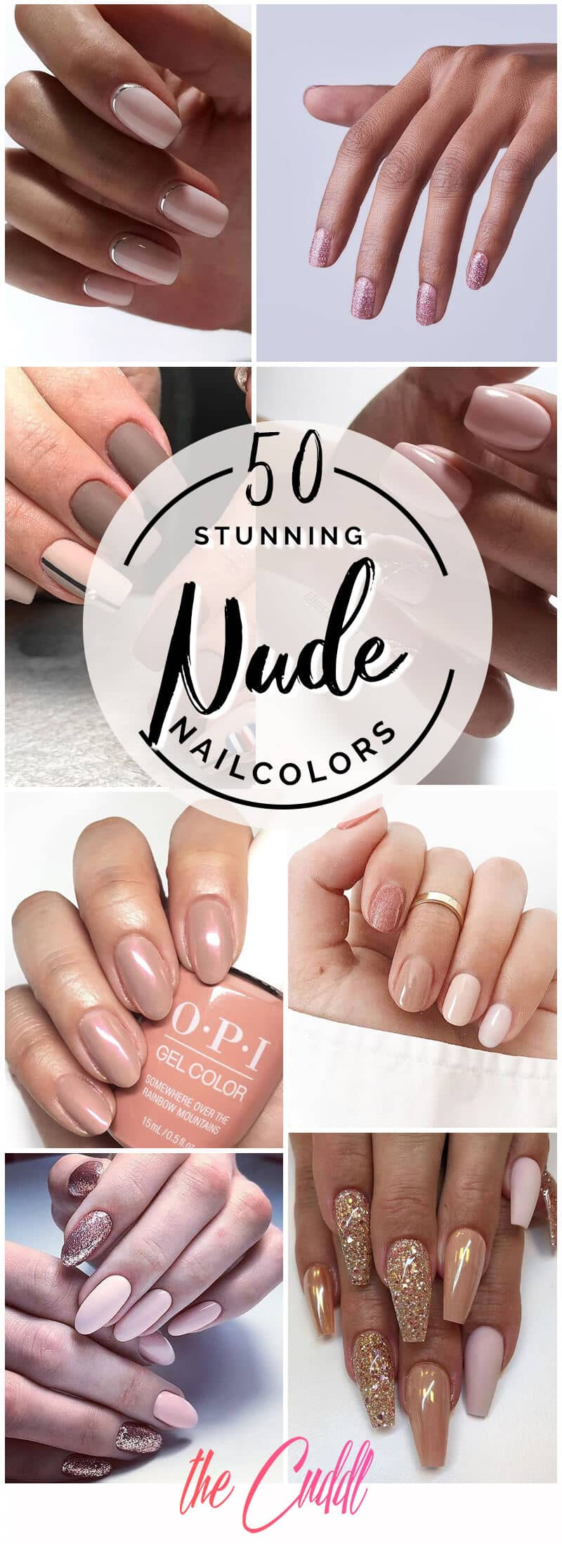 50 Creative Styles For Nude Nails You Ll Love In 2021