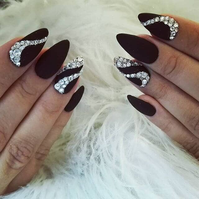 50 Classy Nail Design With Diamonds That Will Steal The Show 2020