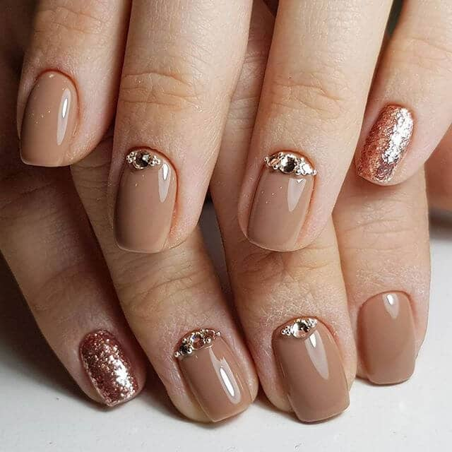 Elegant Rose Gold Nail Design