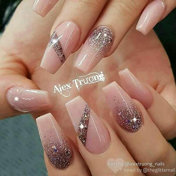 Shine Like A Diamond With Ombre Nail Art