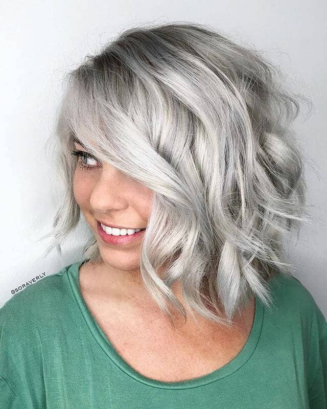 Gray and Gorgeous Modern Hairstyle