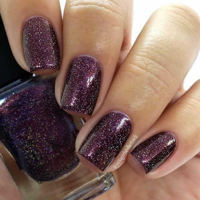 Silvery Glitter and Purple Burgundy