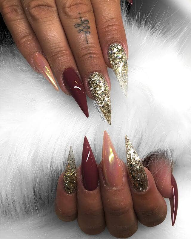 Feeling Fancy in Burgundy and Gold Claws