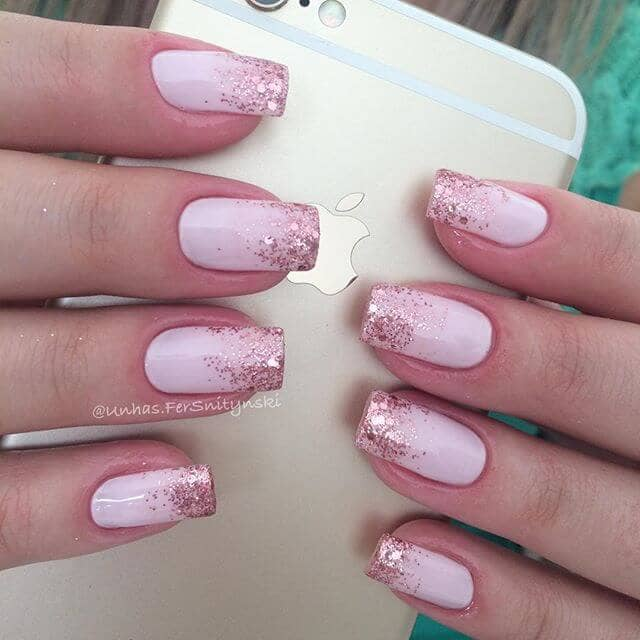 Pretty In Pink Ombre Nails