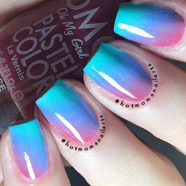 Simple And Sweet Ombre Nails