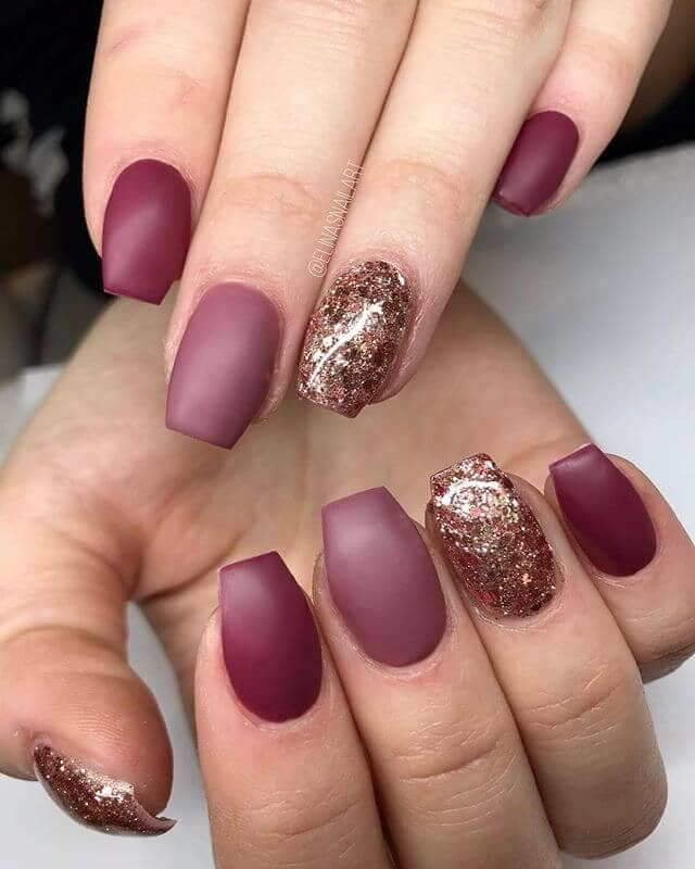 Mind Over Matte with Burgundy & Gold