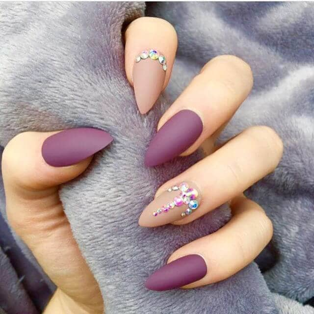 Matte-alicious Caramel and Burgundy with Bling