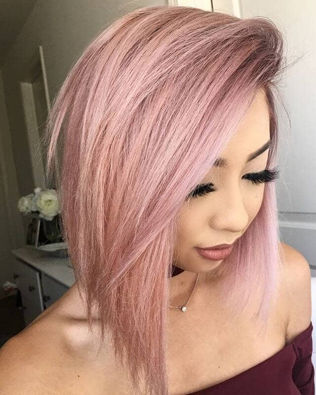 Pretty in Pink Medium Length Hairstyle