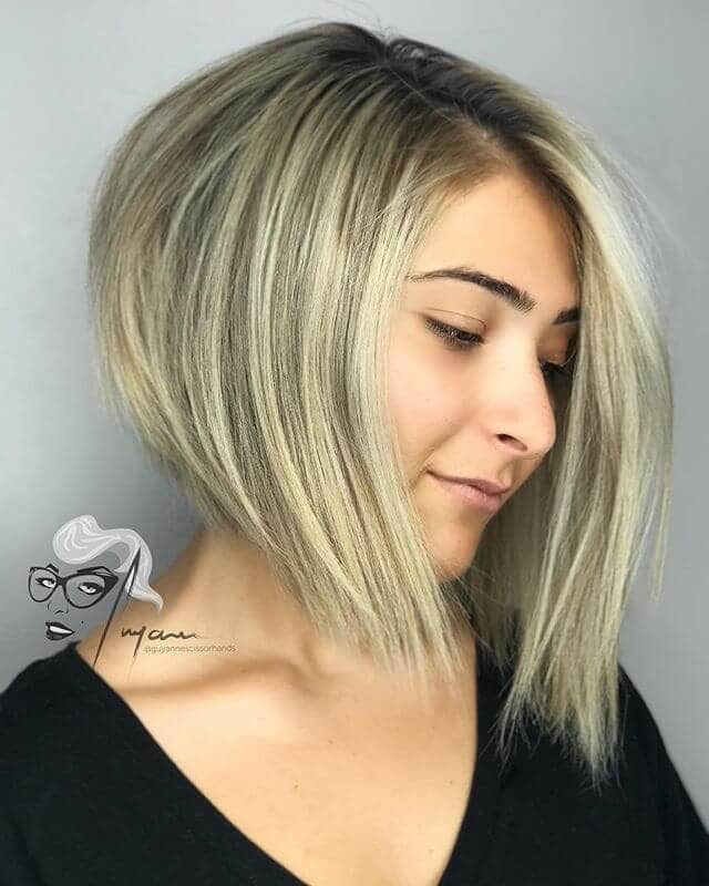 Sweeping Side-Parted Asymmetrical Cut