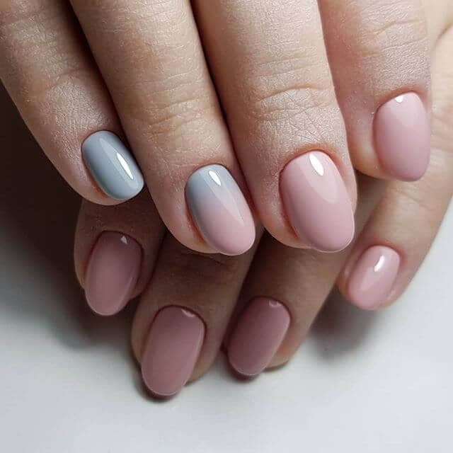 Simply Smooth Ombre Nail Design