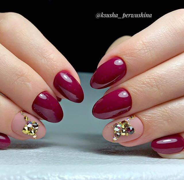 Juicy Burgundy Red with Nude Accents