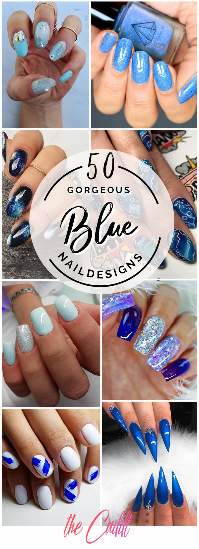 50 Stunning Blue Nail Designs for a Bold and Beautiful Look