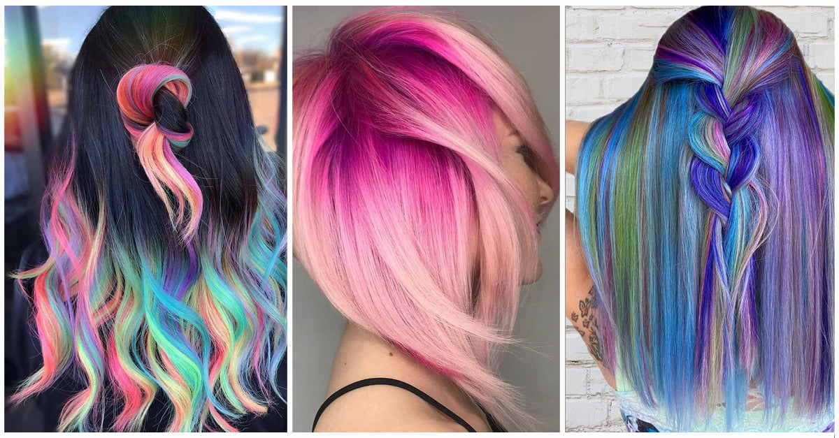 50+ Stunning Rainbow Hair Color Styles Trending Now