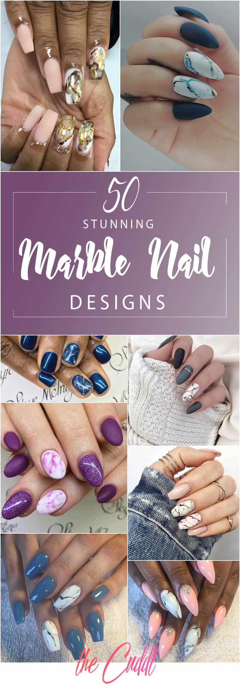 50 Incredible Marble Designs To Upgrade Your Manicure In 2020