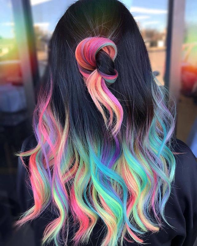 50 Stunning Rainbow Hair Color Styles Trending In 2021