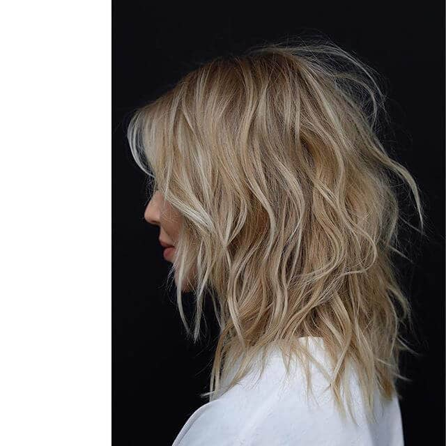 Messy and Textured Beachy Blond Waves