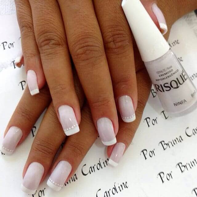 A French Manicure with Flair
