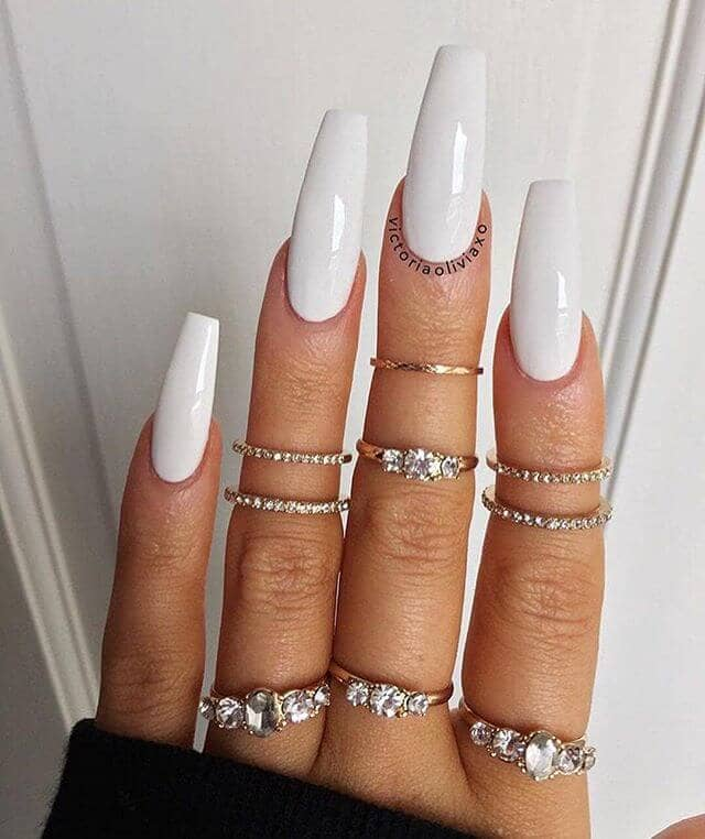 White Nails to Make Your Bling Shine Bright