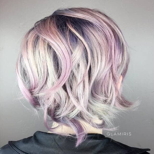 Soft Pink Mermaid Highlights in Choppy Layers