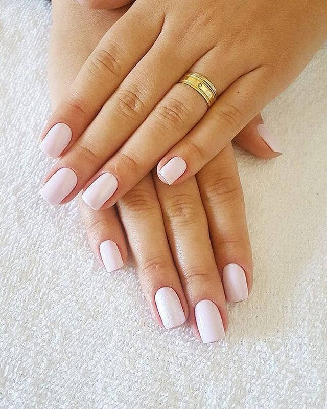 Clean and Classic Natural White Nails