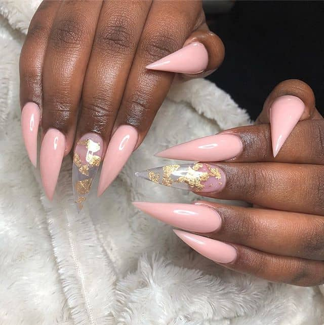 Cotton Candy Pink with a Golden Accents