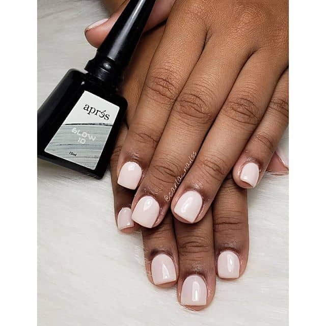 Classic Pastel Pink Cute Short Nails