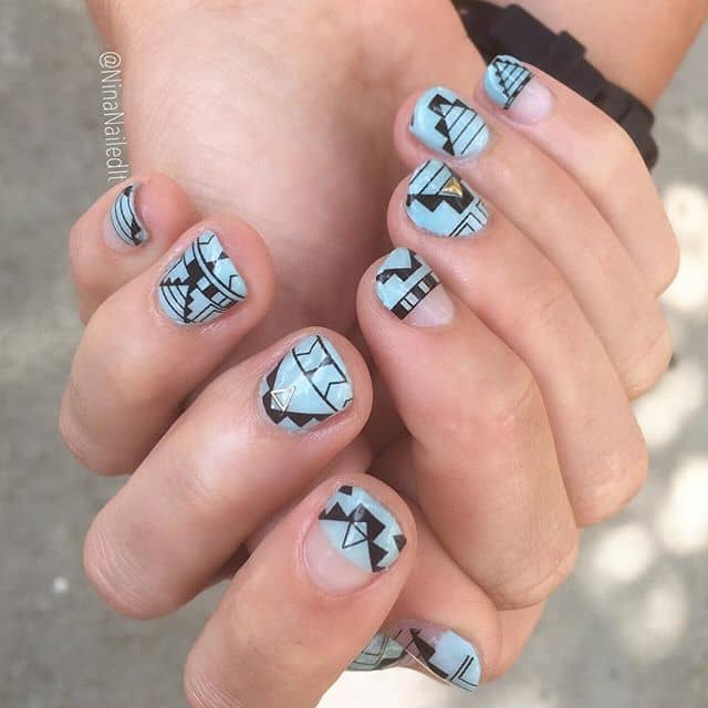 Pretty Tribal Nail Decal and Accent Studs