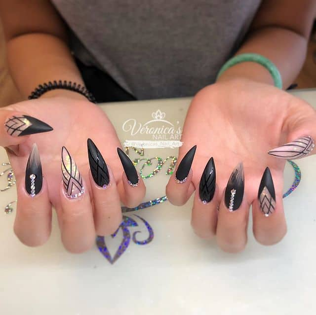 Artistic, Asymmetrical and Achromatic Nails