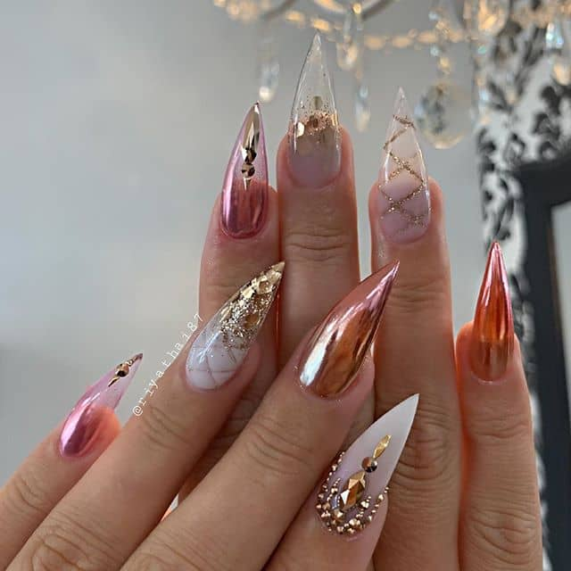 Peaches and Cream with Golden Highlights