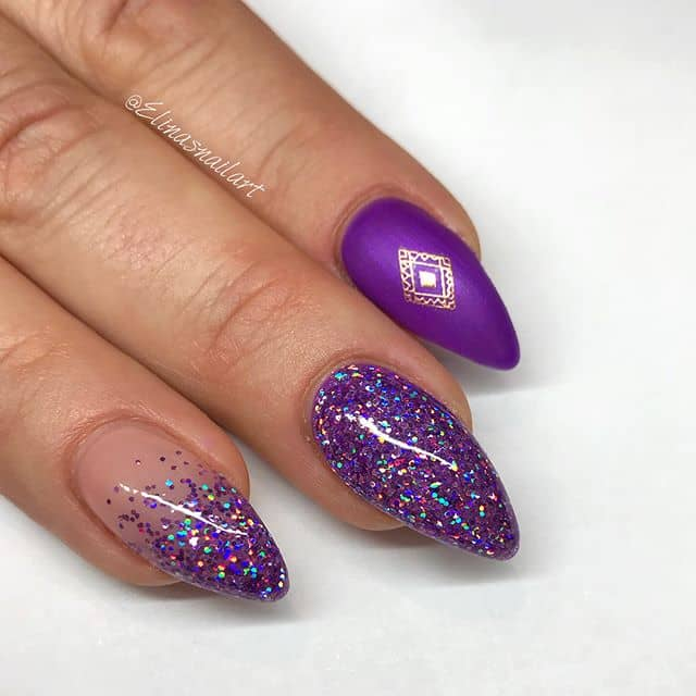 Regal Purple Nails for a Royal Party