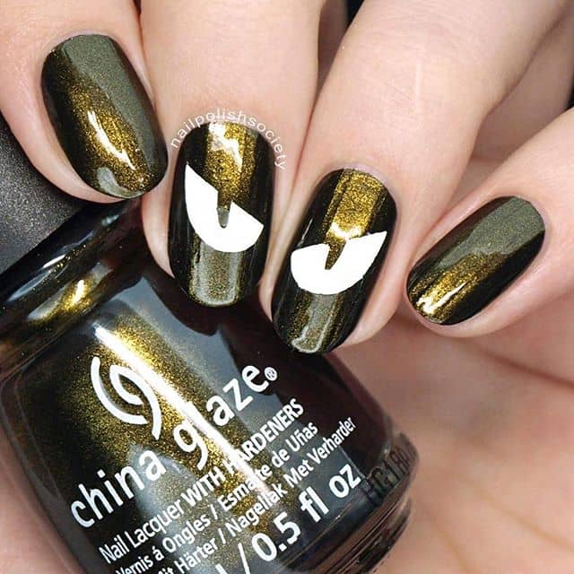 Ombre Galaxy Dust in Black and Gold