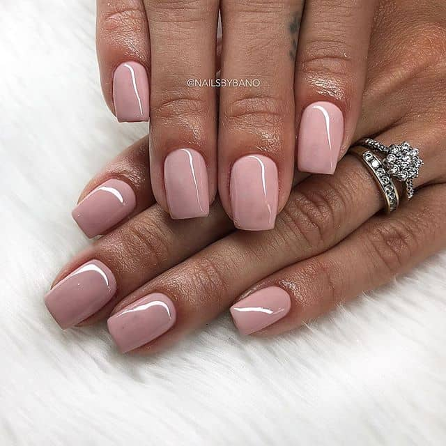 Dusty Rose High Gloss Nail