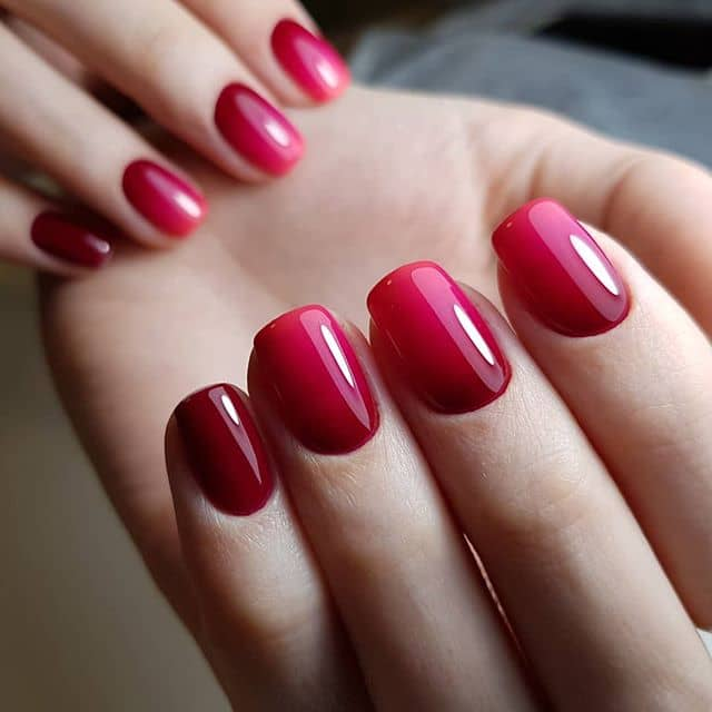 Elegant Regal Red Ombre Mani
