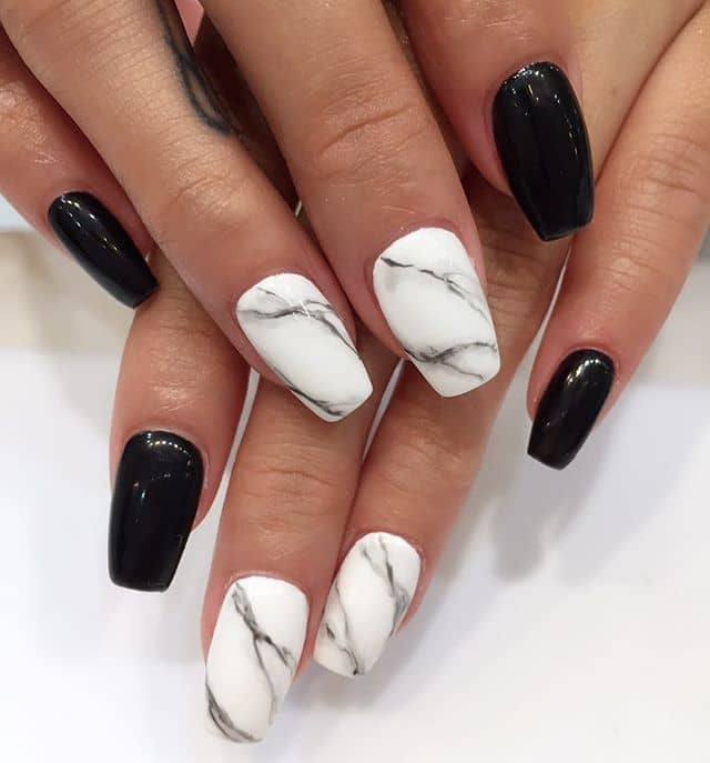 Black Nails and Expensive Marble