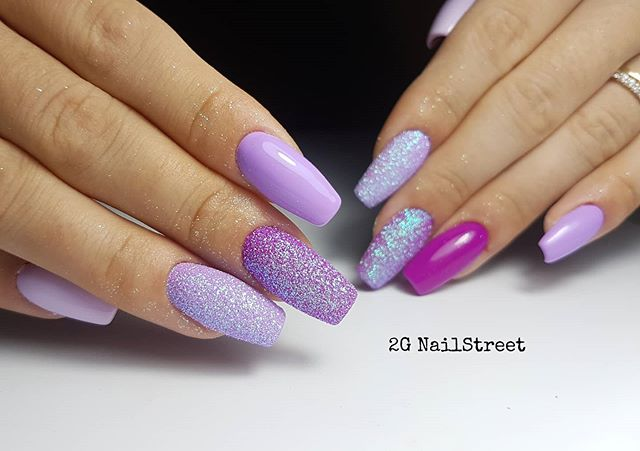 Gorgeous Purple Nail Color Design