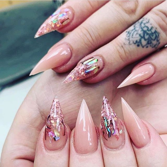 Pointed and Edgy Paint Nail Ideas