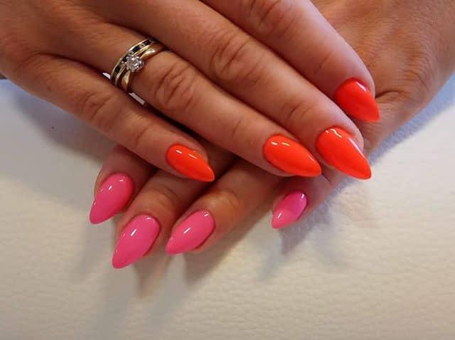 Pink and Tangerine Gel Dream
