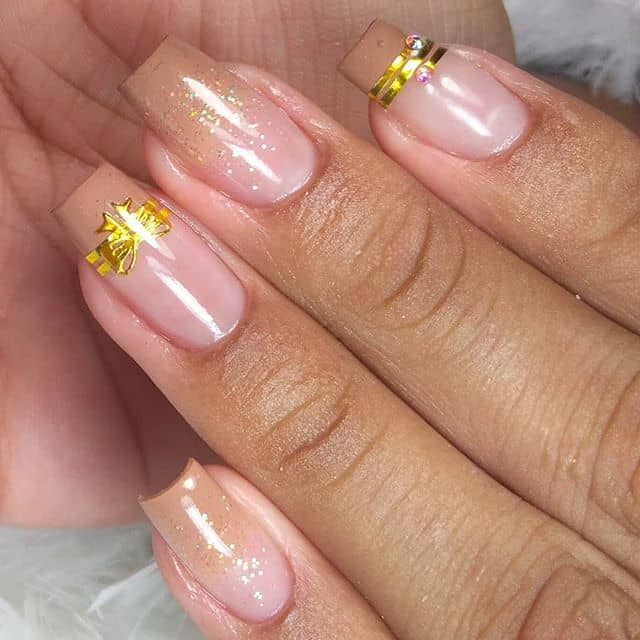 Soft Pink Ombre with Golden Details