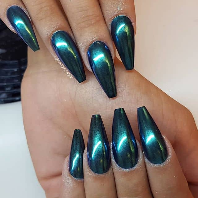 Metallic Mermaid Tails From The Deep Green Sea