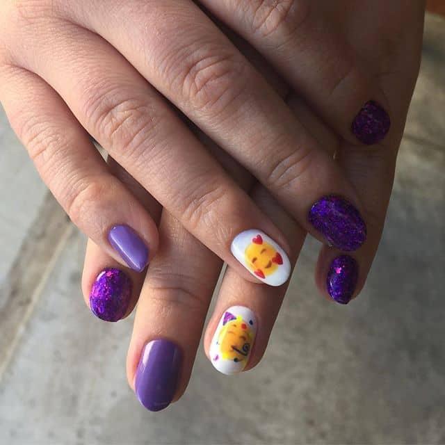Matching Orange Nails and Eyeshadow