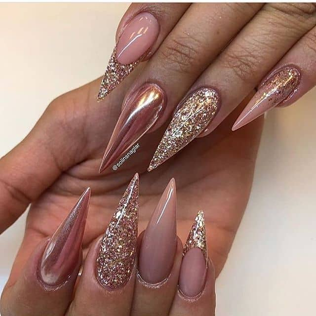 Copper and Gold Metallic Ombre Style