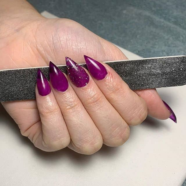 Razor Sharp Lavish Lavender Nail Design